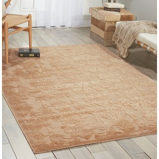 Graphic Illusions Damask Light Gold Rug (5'3 x 7'5)