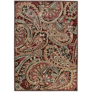 Nourison Graphic Illusions Paisley Multi Color Rug (3'6 x 5'6)