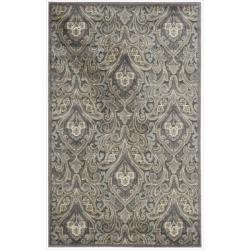 Nourison Graphic Illusions Paisley Multi Grey Rug (3'6 x 5'6)