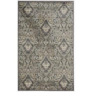 Nourison Graphic Illusions Paisley Multi Grey Rug (3'6 x 5'6)
