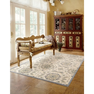 Nourison Graphic Illusions Modern Ivory Rug (3'6 x 5'6)