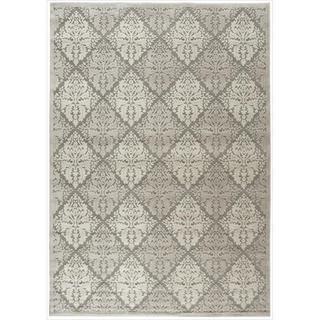 Nourison Graphic Illusions Ivory Diamond Pattern Rug (5'3 x 7'5)