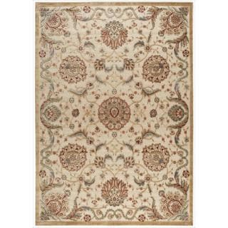 Nourison Graphic Illusions Medallion Beige Multi Color Rug (7'9 x 10'10)