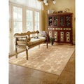 Nourison Graphic Illusions Damask Light Gold Rug (7'9 x 10'10)