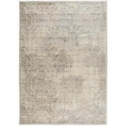 Nourison Graphic Illusions Beige Antique Damask Pattern Rug (7'9 x 10'10)