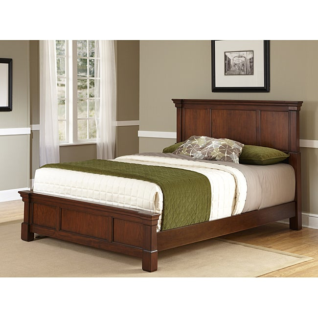 The Aspen Rustic Cherry Collection King Bed