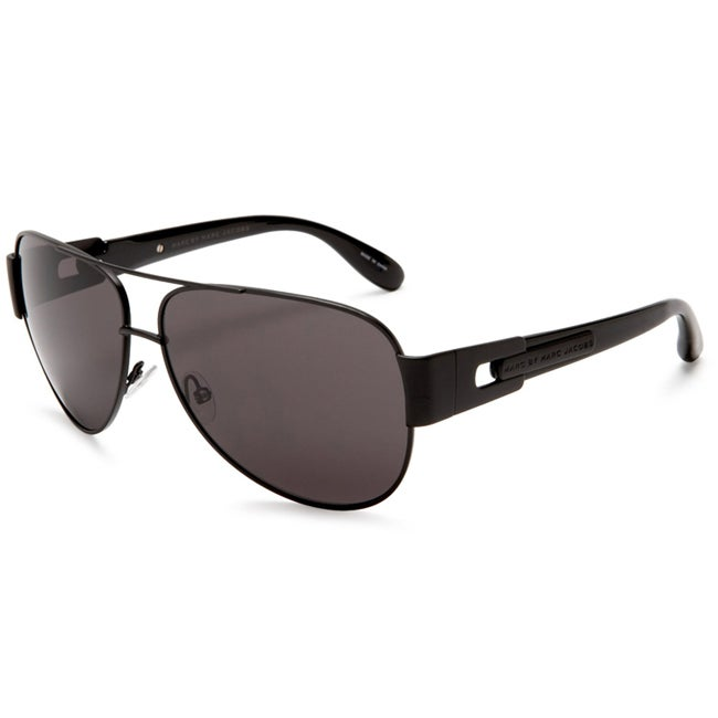 Marc by Marc Jacobs Unisex 107 MPZ Black Metal Aviator Sunglasses