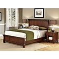 The Aspen Collection Rustic Cherry King Bed & Night Stand