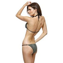 1 Sol Swimwear Women's 'Leo' Laser Cut Triangle Bikini/ Bottoms