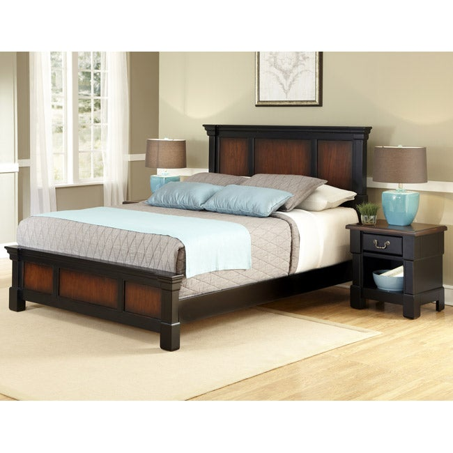 Home Styles Aspen Collection King-size Bed and Night Stand Set