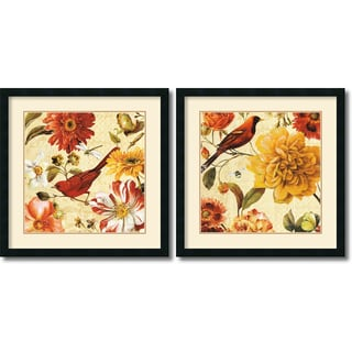 Lisa Audit 'Rainbow Garden Spice' Framed Art Print Set