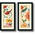 Lisa Audit 'Rainbow Garden Cream Panel' Framed Art Print Set