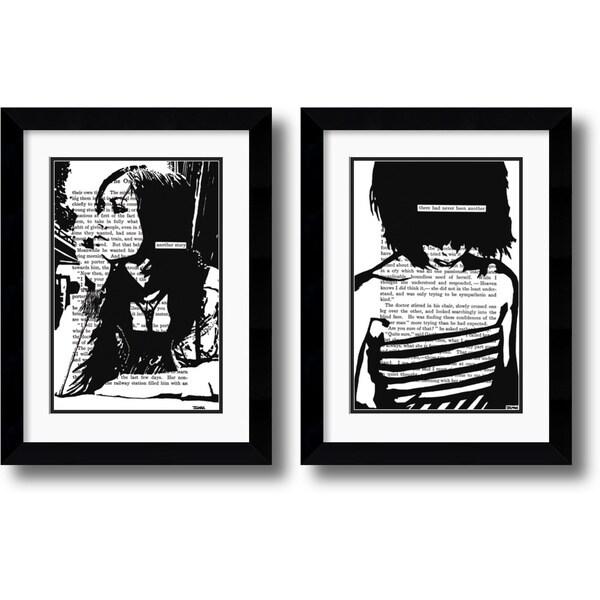 John Clark 'Her Story' Framed Art Print Set