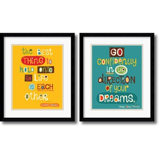 Helen Dardik 'The Best Thing, Go Confidently' Framed Art Print Set
