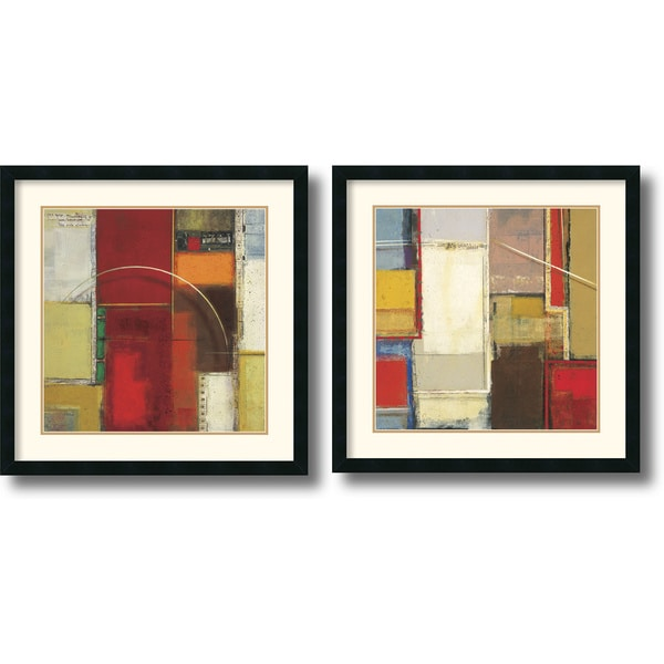 Elya DeChino 'Rosetta' Framed Art Print Set