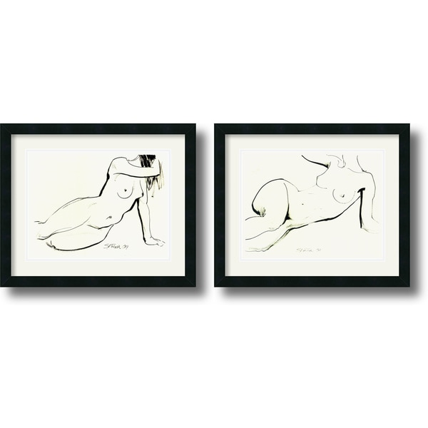 Sergei Firer 'Nude' Framed Art Print Set