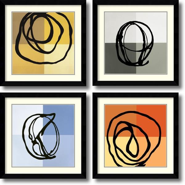 Gregory Garrett 'Swirl Patterns' Framed Art Print Set