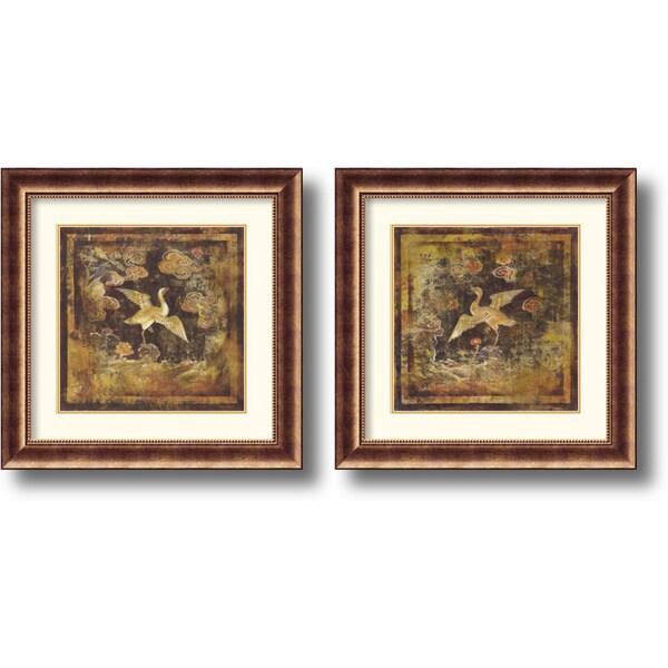 Georgia 'Birds of Paradise' Framed Art Print Set
