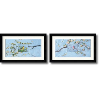 Paris Gerrard 'Spring Birds' Framed Art Print Set