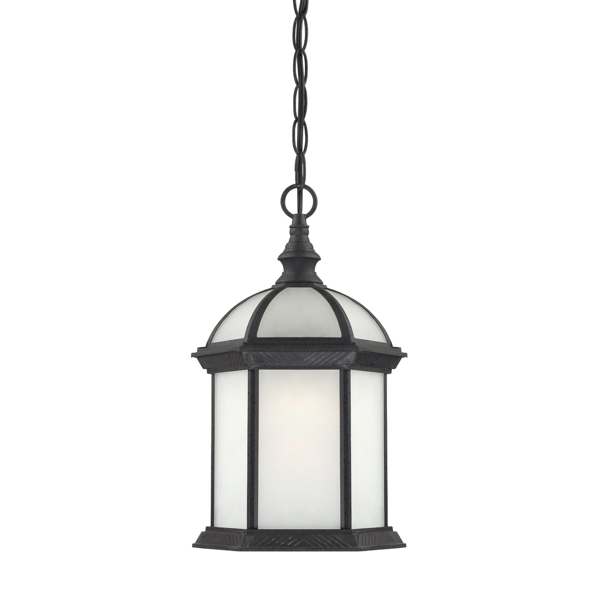 Nuvo Boxwood 1-light Textured Black 13-inch Hanging Fixture