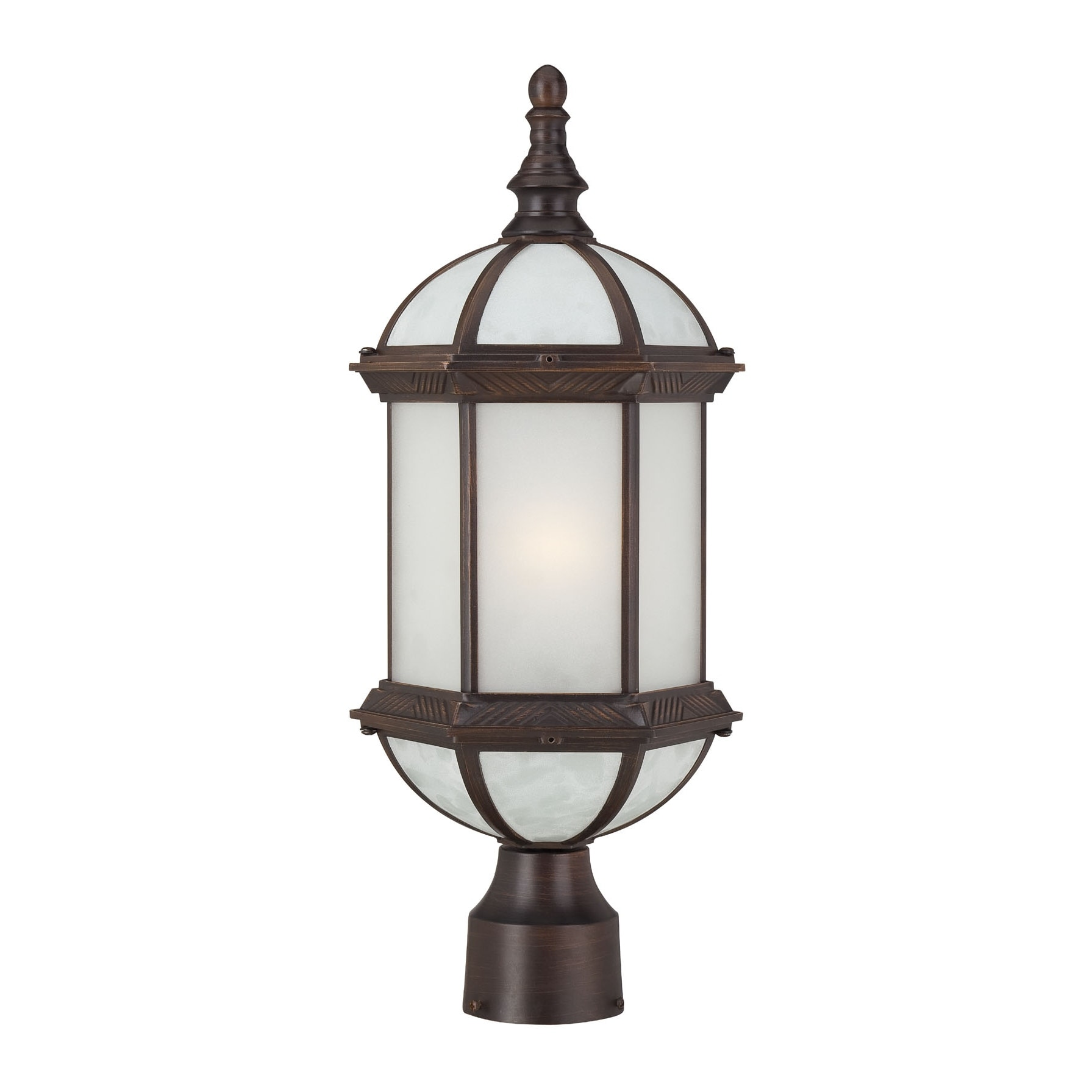 Nuvo Boxwood e light Rustic Bronze Beveled Glass19 Inch