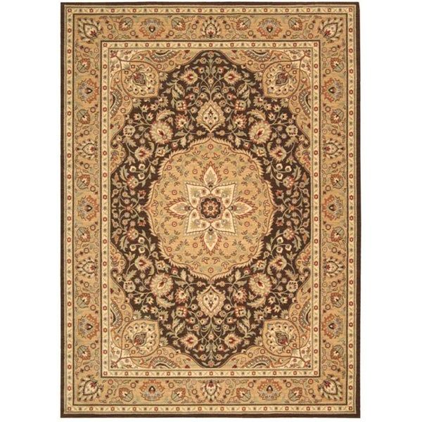 Arabesque Easton Cocoa Wool Rug (7'9 x 10'10)