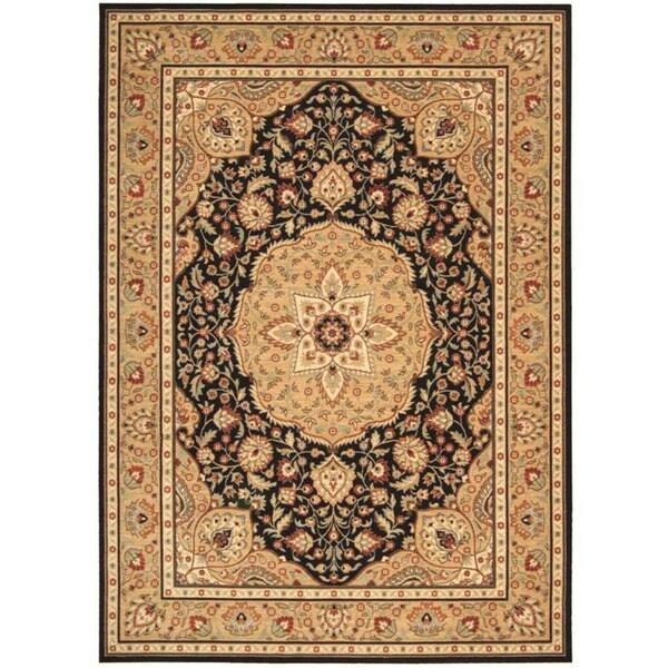 Arabesque Easton Cannon Black Wool Rug (7'9 x 10'10)