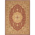 Arabesque Easton Firebrick Red Wool Rug (5'6 x 7'5)