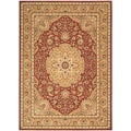 Arabesque Easton Firebrick Red Wool Rug (7'9 x 10'10)
