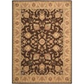 Arabesque Coventry Cocoa Brown Wool Rug (3'6 x 5'6)
