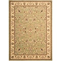 Arabesque Coventry Pale Leaf Wool Rug (5'6 x 7'5)