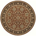 Arabesque Coventry Polished Copper Wool Rug (7'5 Round)