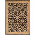 Arabesque Juliard Cannon Black Wool Rug (3'6 x 5'6)