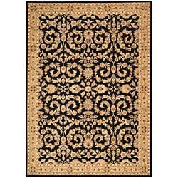 Arabesque Juliard Cannon Black Wool Rug (7'9 x 10'10)
