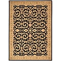 Arabesque Juliard Cannon Black Wool Rug (7'9 x 10'10)