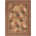 Arabesque Stratford Multi Brown Wool Rug (2'3 x 8')