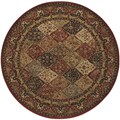 Arabesque Stratford Multi Brown Wool Rug (7'5 Round)