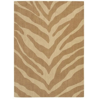 Pacifica Blake Antique Gold Wool Rug (2'3 x 8)