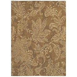 Pacifica Santa Barbara Antique Gold Wool Rug (7'9 x 10'10)
