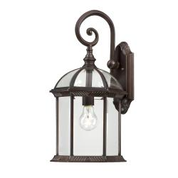 Nuvo Boxwood 1-light Rustic Bronze 19-inch Wall Sconce