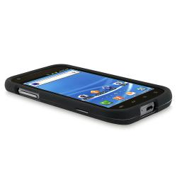 INSTEN Black Phone Case Cover/ Car Charger/ Protector/ Cable for Samsung Galaxy S II T989