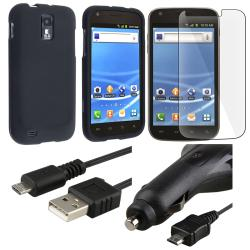 Black Case/ Car Charger/ Protector/ Cable for Samsung Galaxy S II T989