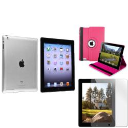 BasAcc Pink Leather Case/ Crystal Case/ Screen Protector for Apple� iPad 3/ 4