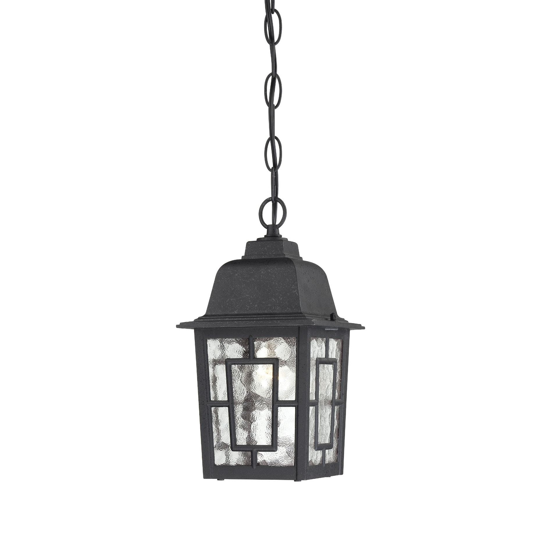Nuvo Banyon 1-light Textured Black 11-inch Hanging Fixture