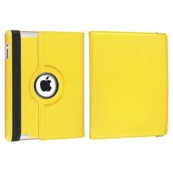 Yellow 360 Swivel Leather Case/ Crystal Case for Apple® iPad 2/ 3