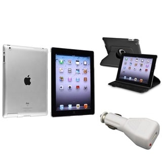 BasAcc Leather Case/ Crystal Case/ Car Charger for Apple� iPad 2/ 3/ 4