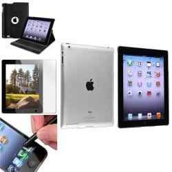 Leather Case/ Crystal Case/ Screen Protector/ Stylus for Apple� iPad 3