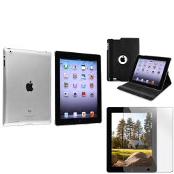 BasAcc Black Leather Case/ Crystal Case/ Screen Protector for Apple� iPad 3/ 4