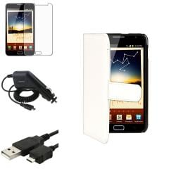 Synthetic Leather Case/Screen Protector/Charger/Cable for Samsung� Galaxy Note N7000