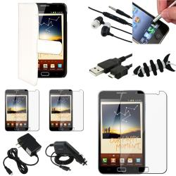 Black Case/Screen Protector/Charger/ Stylus for Samsung� Galaxy Note N7000